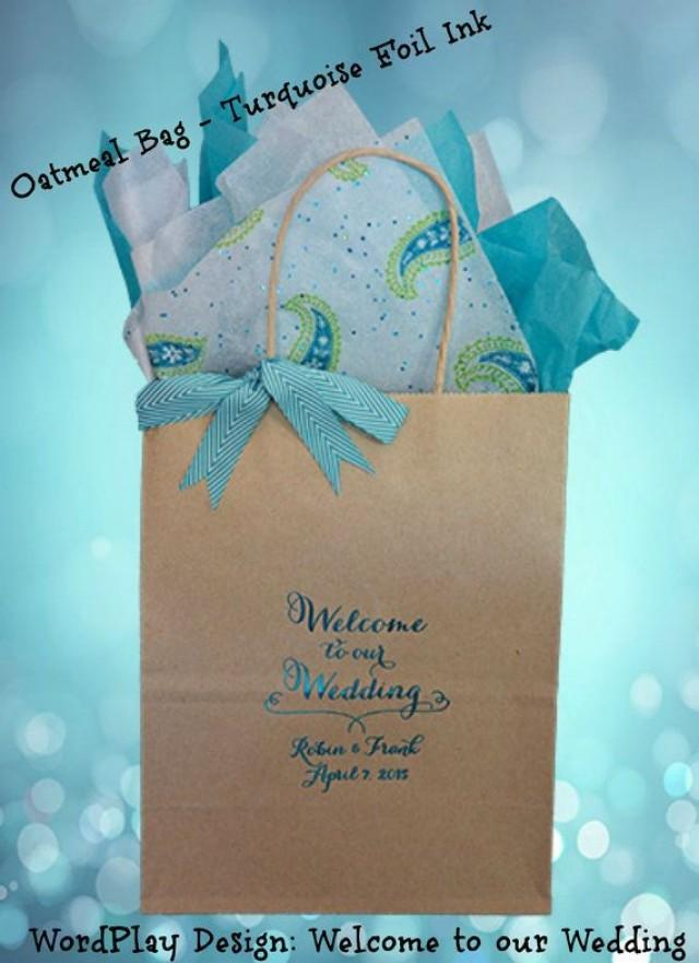 25 Personalized Wedding Welcome Bag Wedding Guest Gift Bag Hotel