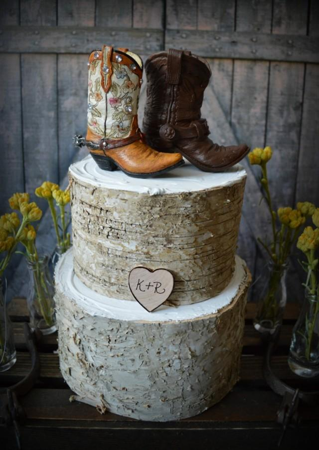 Western Boots Wedding Cake Topper Cowboy Cowgirl Bride