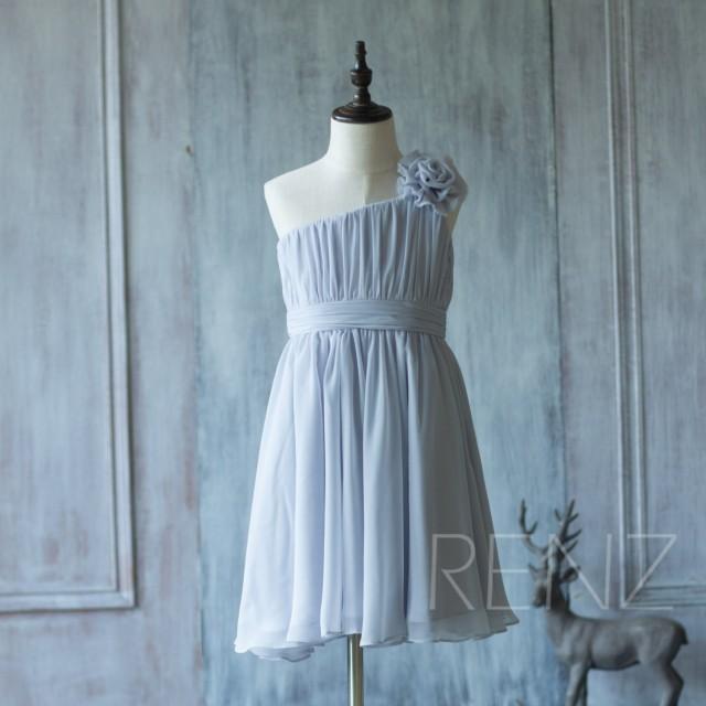 83dc2d0f246 2016 Grey Junior Bridesmaid Dress