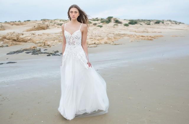 Lace Amp Tulle Wedding Dress New 2016 Stunning Boho Wedding Dress With Sleeves 2496834