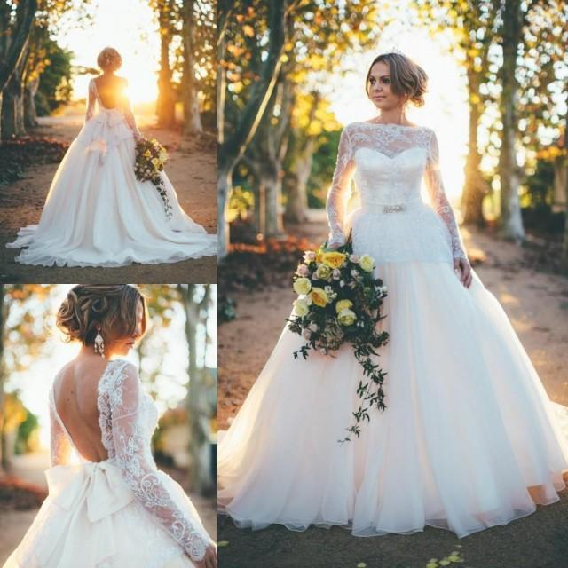 Garden Wedding Gowns: 2016 Spring Garden Romantic A Line Wedding Dresses Long