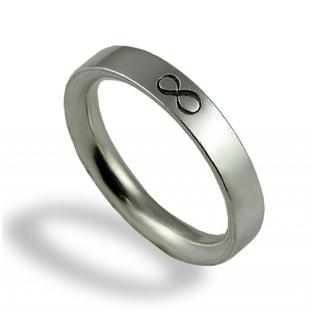 infinity wedding band unique wedding ring for men sterling silver for him commitment. Black Bedroom Furniture Sets. Home Design Ideas