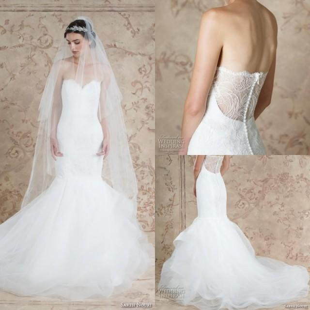 Gorgeous 2016 White Lace Mermaid Wedding Dresses Cheap ... - photo #7