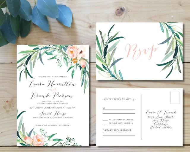 Printable Wedding Invitation Sets: Printable Wedding Invitation Set #2499951
