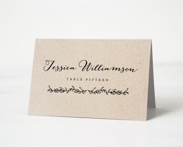 printable place card template wedding place cards editable artwork