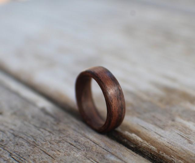 rosewood wooden wedding ring wooden engagement ring rosewood ring wooden ring promise ring bentwood ring 2501018 weddbook - Wooden Wedding Rings