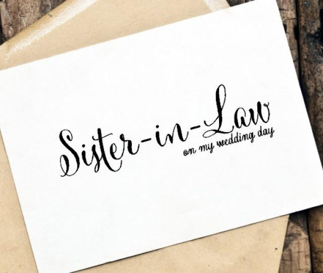 wedding card to your sister in law on your wedding day sister in