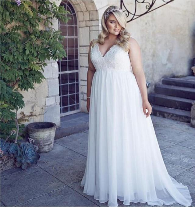 Stunning A Line Chiffon Simple Wedding Dresses Summer Style 2016