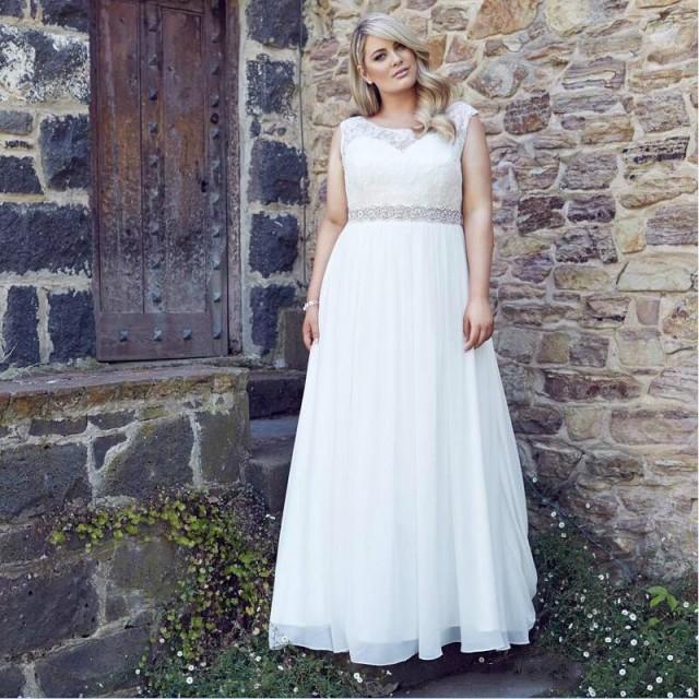 Vintage Plus Size Wedding Dresses 2016 Sheer Large A Line