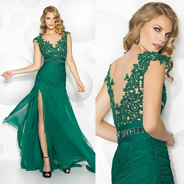 2016 Lace Mermaid Mother Of The Bride Dresses Groom: Noble 2016 Lace Mother Of The Bride Dresses Green Side