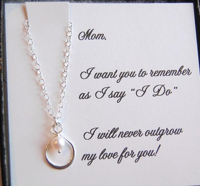 Mother Of The Bride Gifts: Mother Of The Bride GIFT, Infinity Pearl Necklace,mother