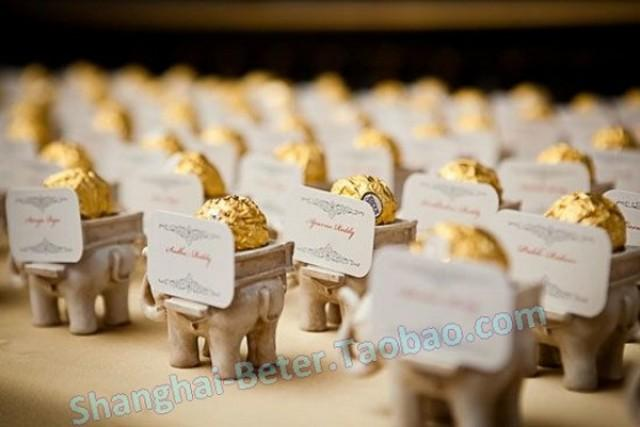 Creative Wedding Small Things India Lucky Elephant Candlestick Favor Sz040 Banquet Seat Card Clip Candy Box 2502778 Weddbook