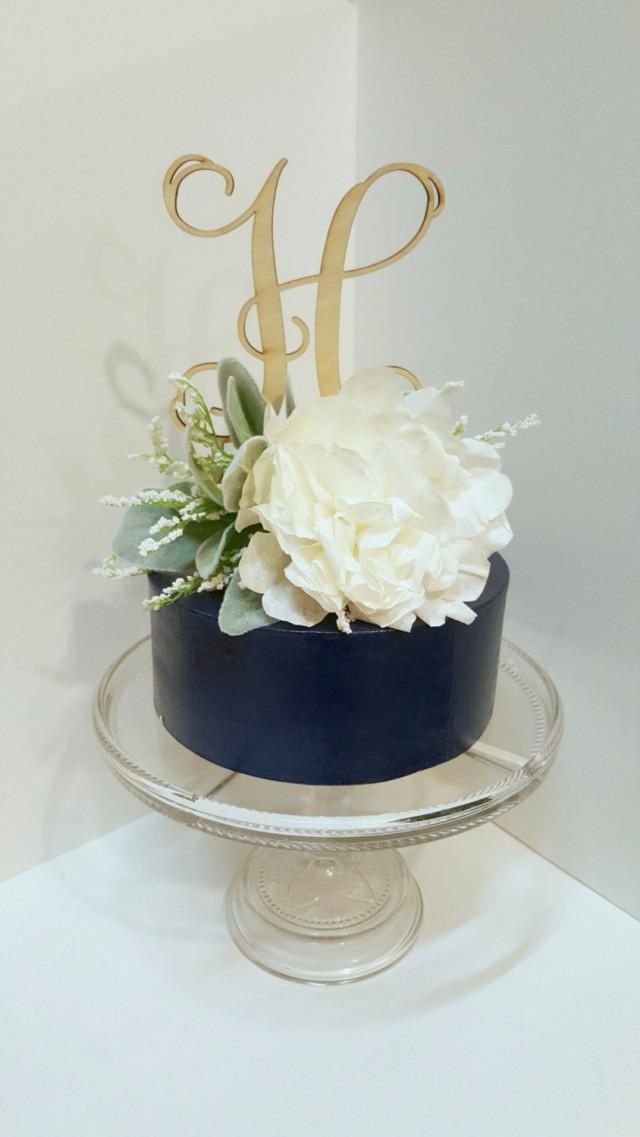 ivory peony cake topper