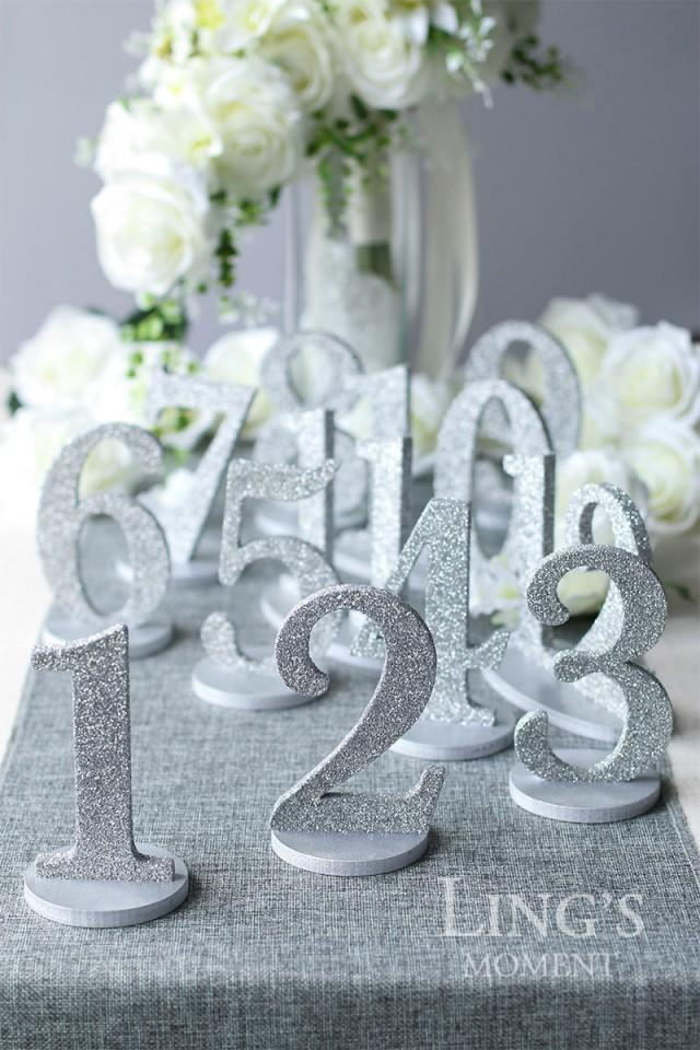 Table Numbers 1 25 Set Glitter Wedding Table Numbers Gold