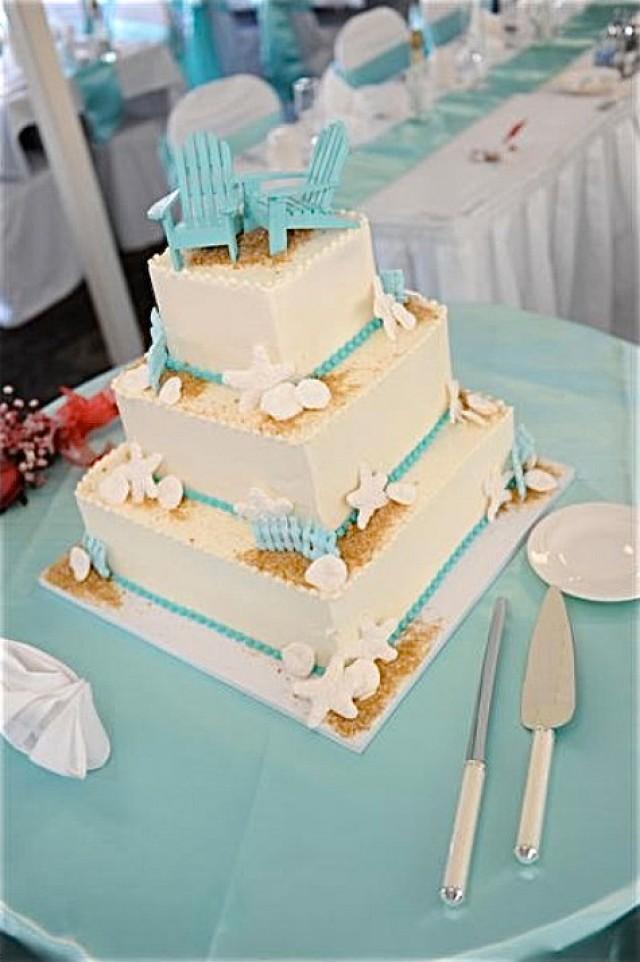 Beach Wedding Cake Topper 2 Mini Adirondack Chairs In 6 Colors