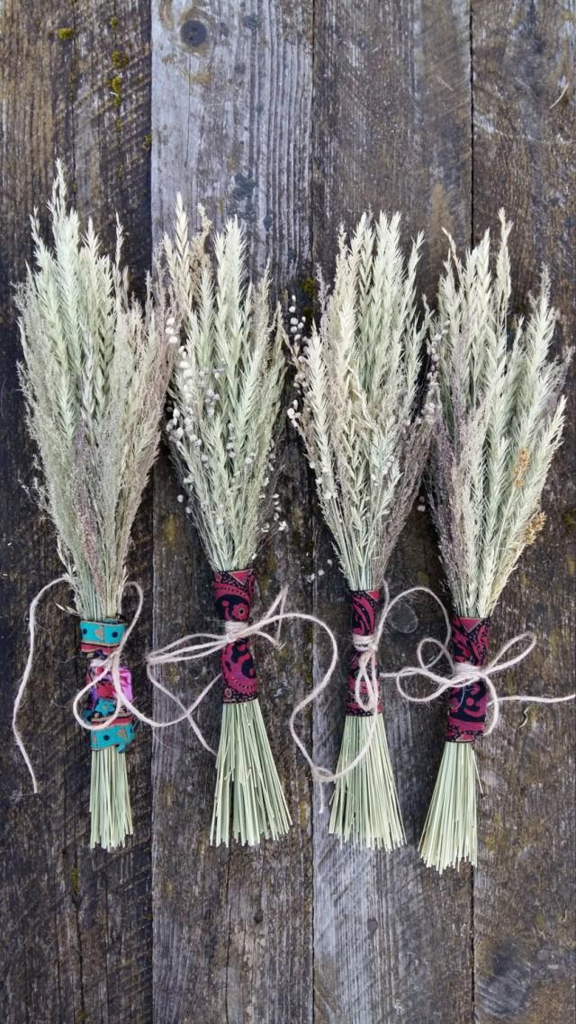 Boho Rustic Bouquet Dried Flowers Grasses Bunch Natural Wild Rhweddbook: Dried Grasses Home Decor At Home Improvement Advice