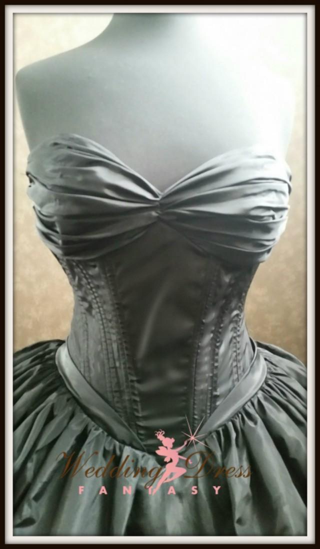 Black Corset Wedding Dress Gothic Bridal Gown #2504583 - Weddbook