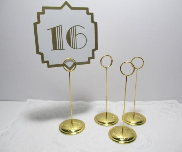 Gold Ring Style Table Number Stand Card Holder Gold