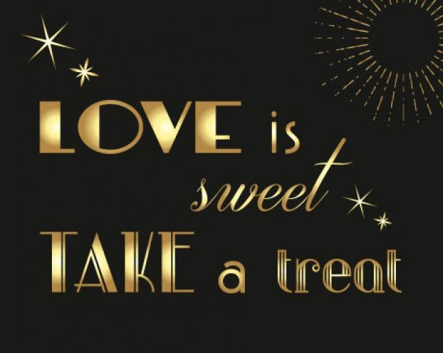 gatsby themed dessert table sign 2 black and gold wedding great gatsby wedding candy bar sin 2505135 weddbook