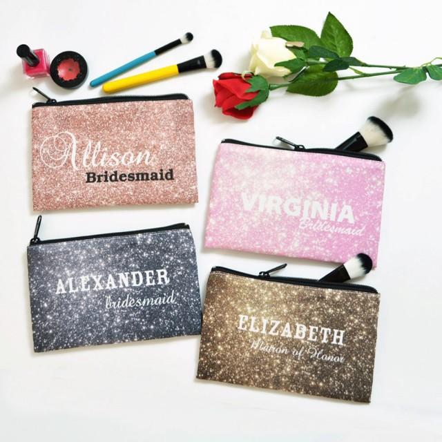 Personalized Cosmetic Bag Bridesmaid Gift Bridesmaid: Personalized Cosmetic Bag, Bridesmaid Gift, Bridesmaid