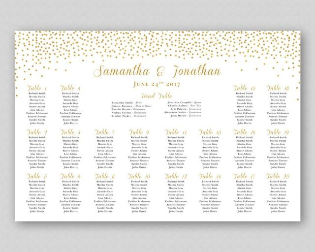 Personalized Printable Wedding Seating Chart