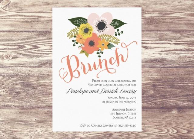 Printed Brunch Invitation Brunch Invite Bridal Shower