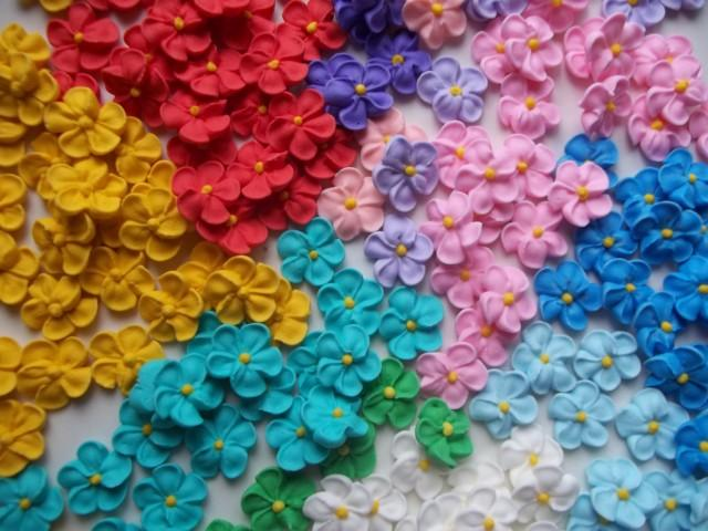 Mini Royal Icing Flowers Variety Ready To Ship Cake