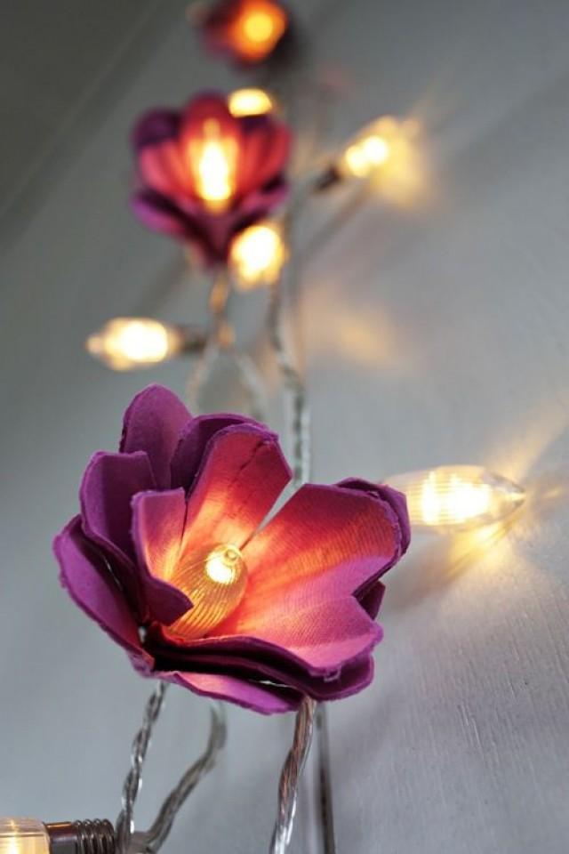 How To DIY Beautiful Flower Lights