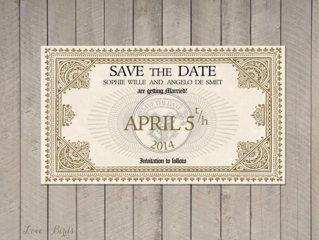 Wedding Invitation Harry Potter - Save The Date Train ...