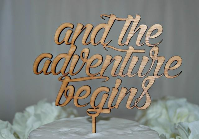 And So The Adventure Begins Cake Topper