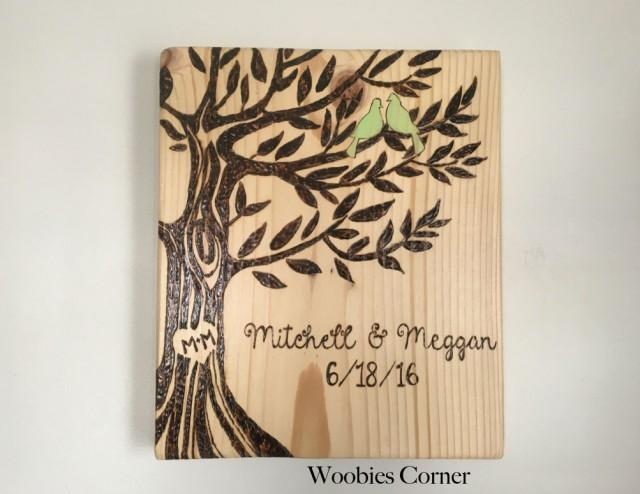 Wood Wedding Gift Ideas: Personalized Wedding Gift, Custom Wedding Sign, Rustic