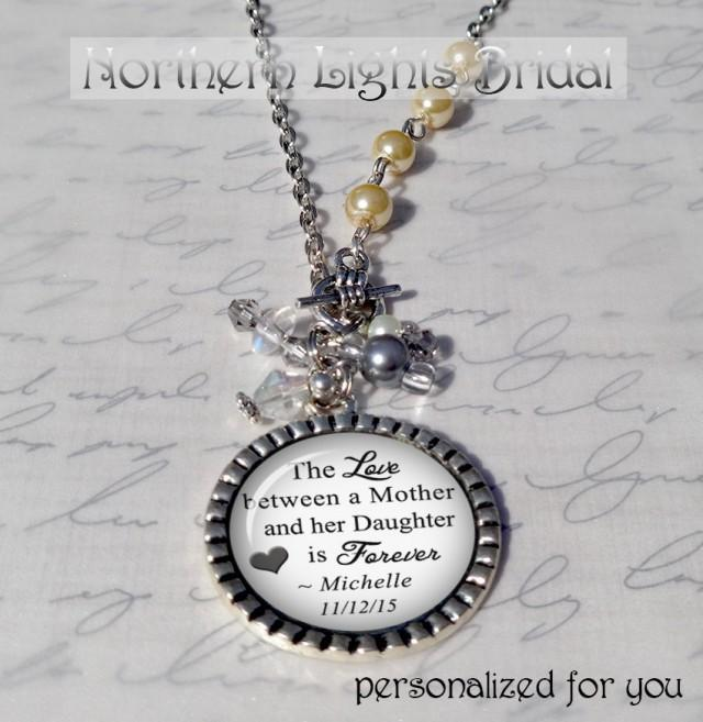 Gift From Bride To Mother: Mother Of The Bride Gift Personalized Necklace Custom
