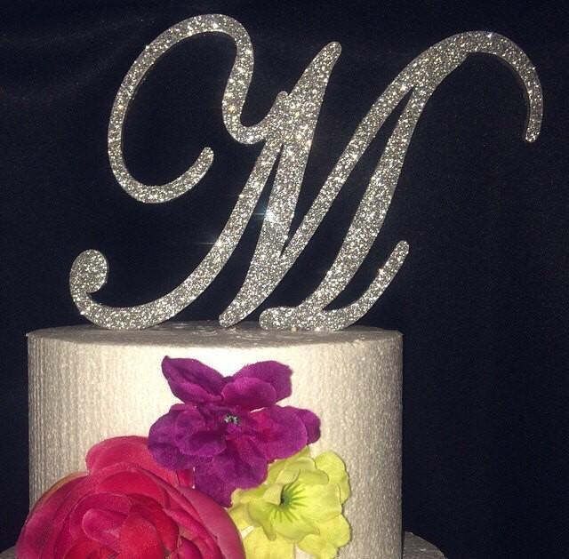 My Diy Monogram Cake Topper Wedding