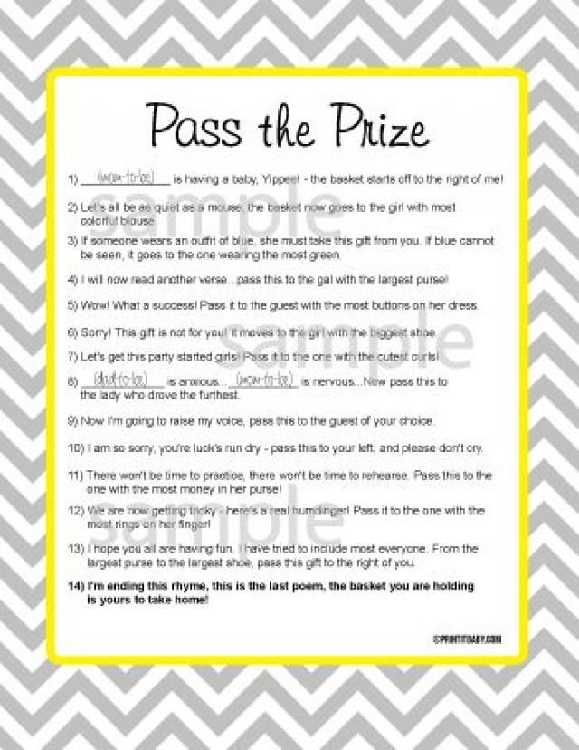 Pass The Gift Game Baby Shower – diabetesmang.info