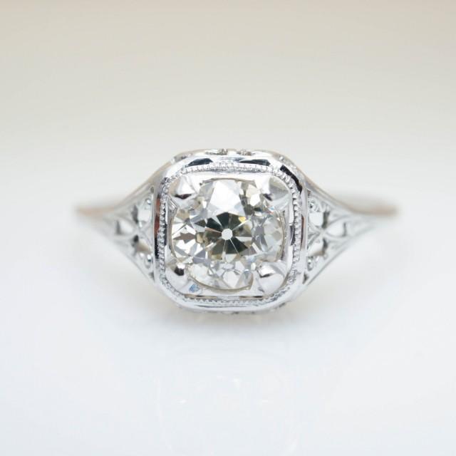 antique engagement ring edwardian engagement unique