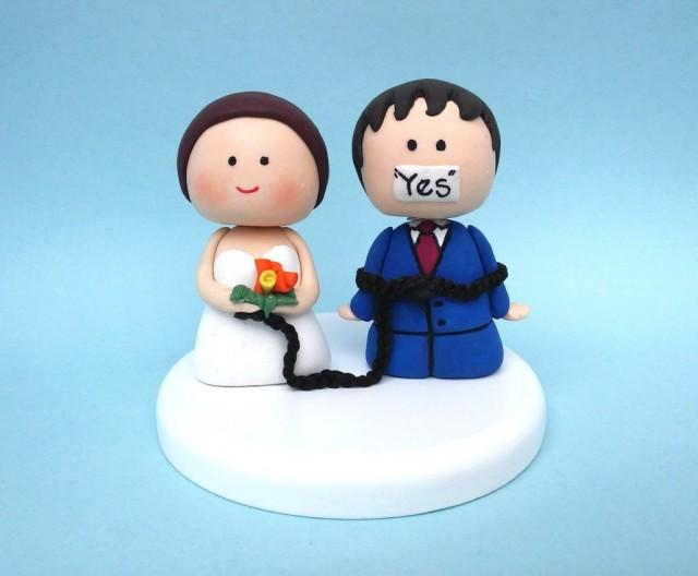 Tie The Know Wedding Cake Toppers