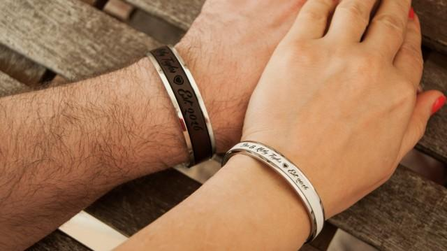 Personalized Couples Bracelets Gift For Couple Husband