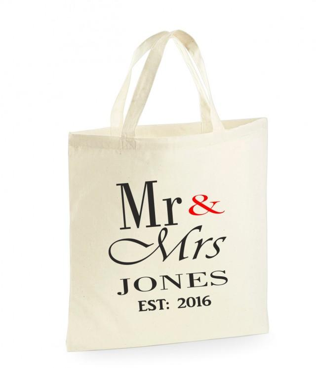 Personalised Mr Mrs Bag Wedding Gifts For The Bride Unique