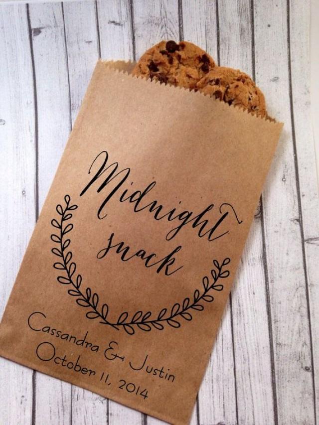 Wedding Cookie Bags Candy Buffet Sacks Custom Wedding Favors 25