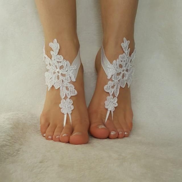 Bridesmaid Gifts Beach Wedding: Snow White Free Ship Beach Wedding Barefoot Sandals