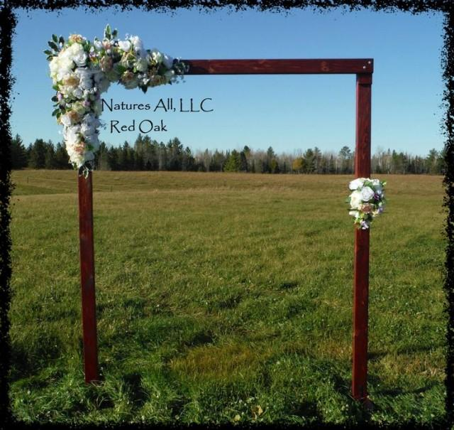 Rustic Outdoor Wedding Ideas/Country Wedding Decor/Rustic Wedding Arch/Red  Oak/Shipping Included! #2509477   Weddbook