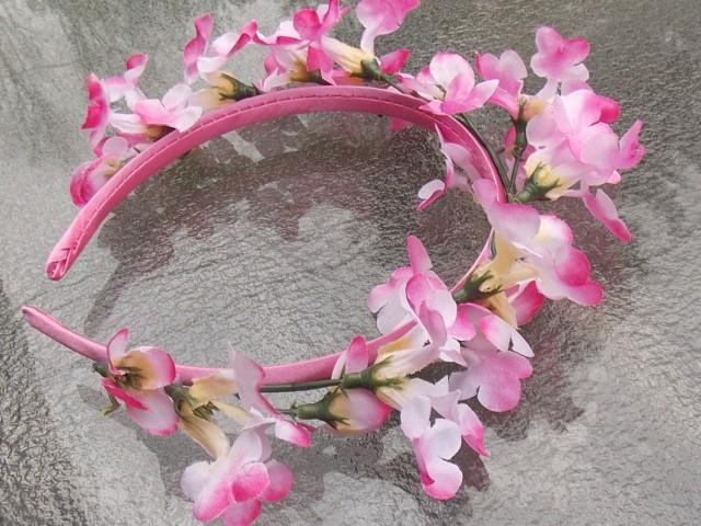 Pink Lilac Fairy Flower Headband Wreath Floral Bridal Crown Spring