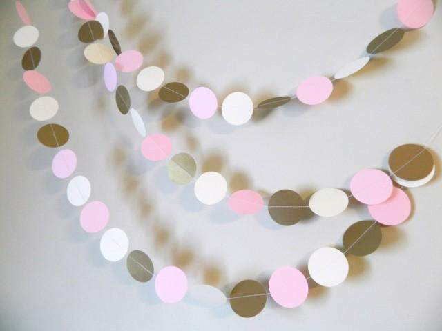 winter onederland party decor gold pink and ivory paper garland wedding garland baby shower decorations bridal shower decor 2509571 weddbook