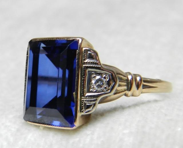 Vintage Sapphire Diamond Engagement Rings