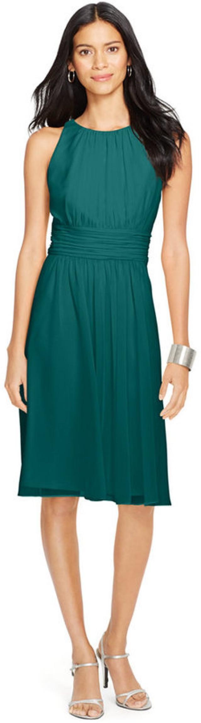 c4b91a50b9231 Lauren Ralph Lauren Ruched Sleeveless Dress  2510076 - Weddbook