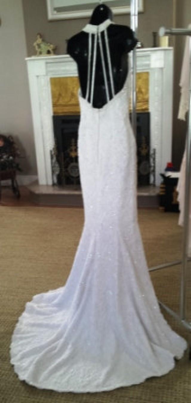 Wedding dress halter mermaid style fully beaded with for Jewelry for halter wedding dress