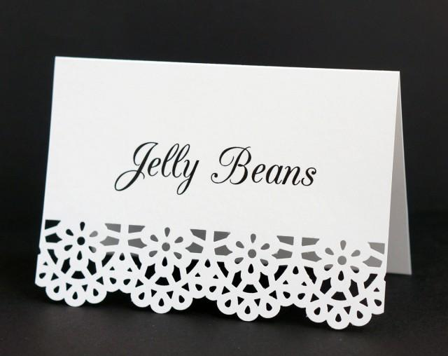 Food Labels Food Place Cards White Catering Food Signs