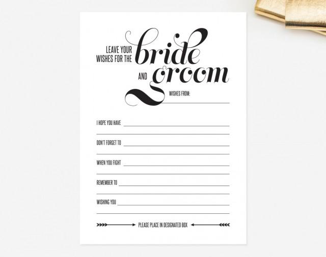 Wedding Mad Libs Card — Leave Your Wishes For The Bride ...