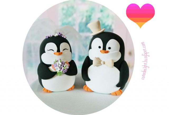 Custom Made Bride And Groom Cake Toppers