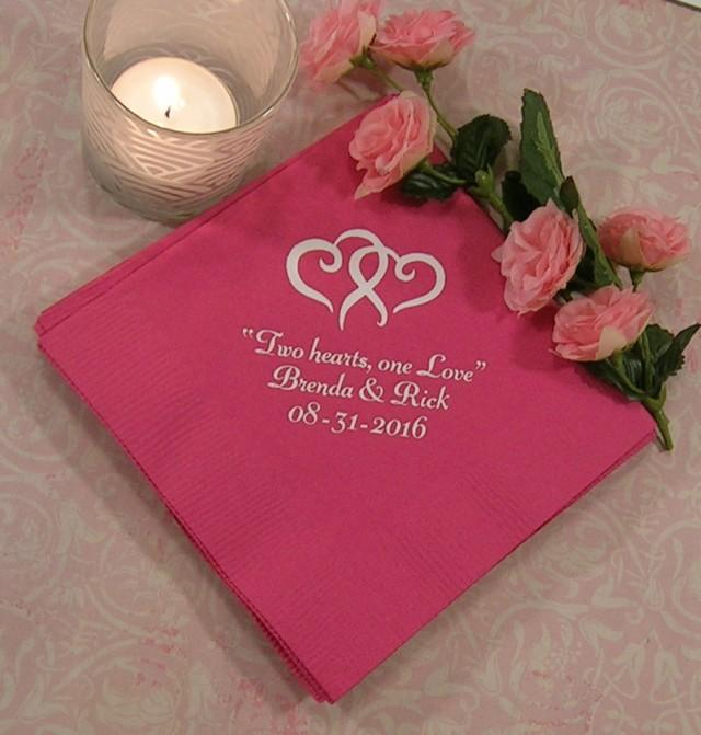 Wedding Napkins Personalized Tail Beverage Or Luncheon Size 2512295